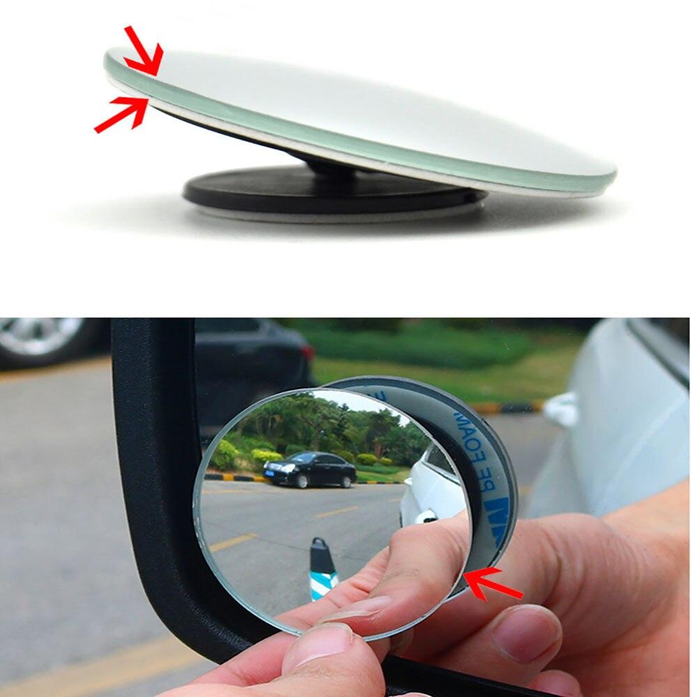 360 Degree frameless ultrathin Wide Angle Round Convex font b Car b font Blind Spot font