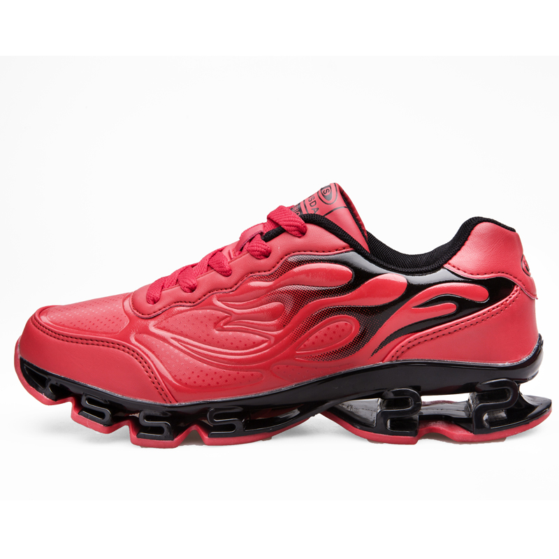 ФОТО Sport Shoes Men 2016 Red Running Trainers Hot Shock Absorption Athletic Shoes Black Anti-Slippery Men Running Shoe Trend Sneaker