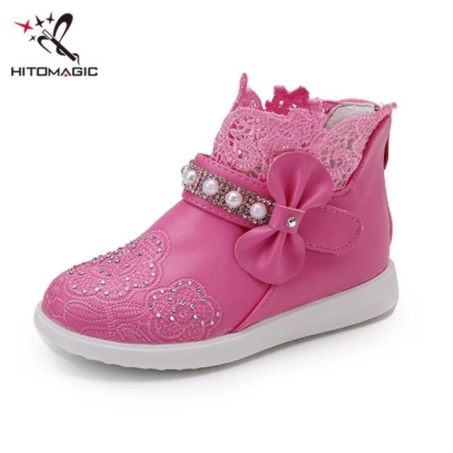 BOTTE Enfants bowknot fille fleur chaussures princesse mode unique chaussures@Blanc BtGinzKLRT