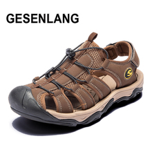 2019 Men's Closed Toe Sandals Big Size Breathable Quick Drying Male Outdoor Sports Shoes Anti-slip Walking Beach Fisherman Shoes