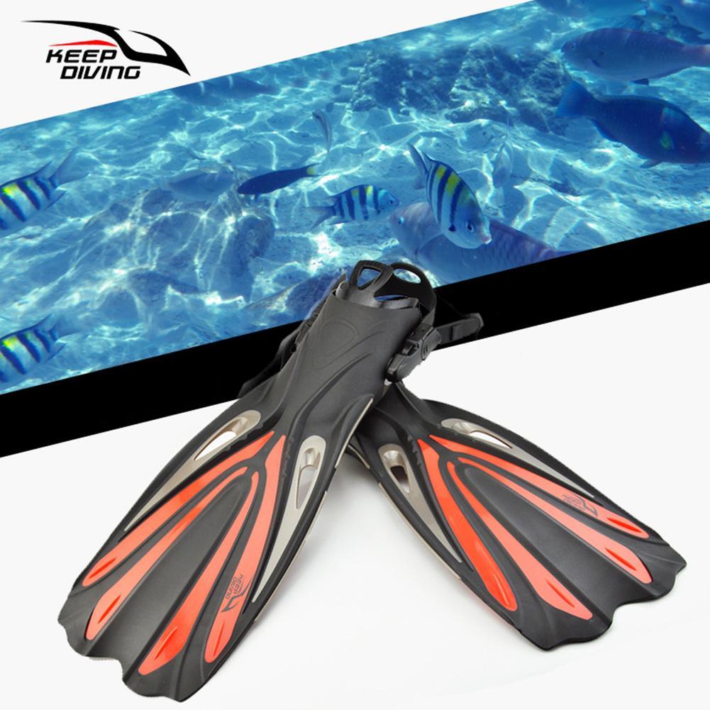 1 paire adulte réglable plongée en apnée palmes de natation palmes de pied talon ouvert plongée sous-marine longues palmes Sports nautiques