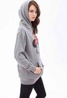 новый бренд мода 2015 женщин с caption кофты и ППШ вкус женщины дамы мода мультфильм пальто зимняя одежда мышь k5861