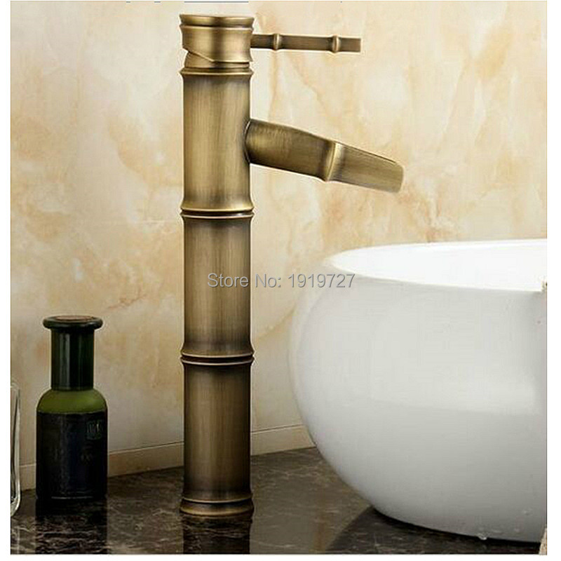 цена на Deck Mounted Antique Bronze Waterfall Faucet Bathroom Vessel Sink Mixer Tap 2016 Factory Direct 100% Brass Classic Design Style