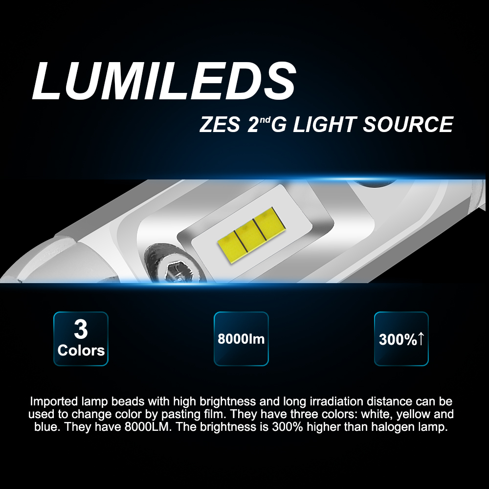 Image 2 - X3 H4 Hi Low H7 Car LED headlight 60W 8000LM H11 9005 9006 HB2 HB3 HB4 12V 24V 3000K 6000K 8000K Auto Led Lights Headlamp Kit-in Car Headlight Bulbs(LED) from Automobiles & Motorcycles