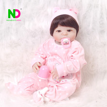"Wholesa 23"" 57cm Full Silicone Vinyl Body Bebe Reborn Real Doll Baby Toys Newborn Dolls For Princess Fashion Birthday Gifts"
