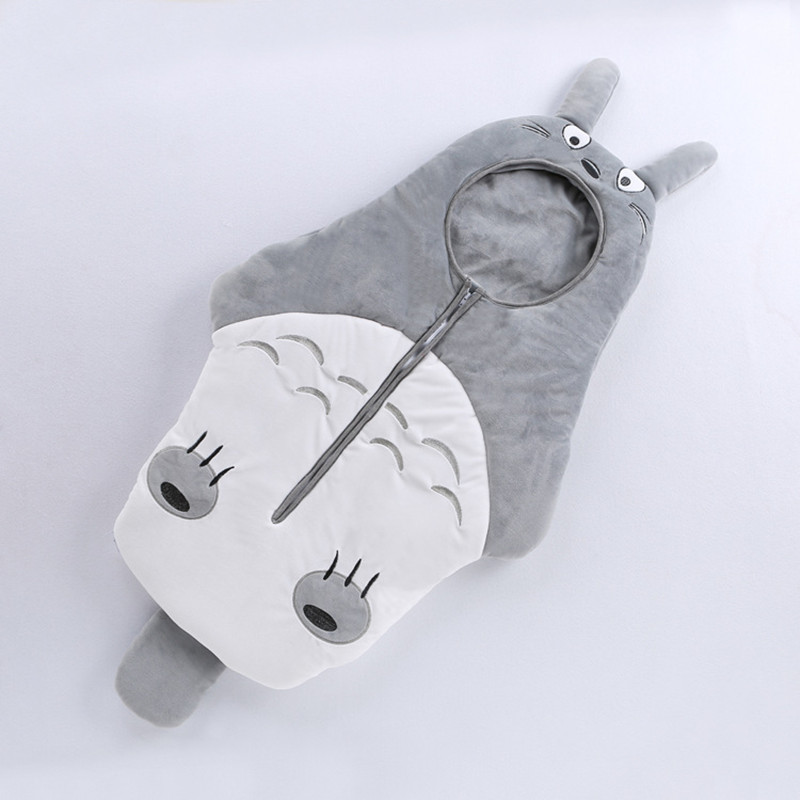 Baby Sleeping Bag Newborn Cartoon Neighbor Totoro winter Sleeping Bags Carriage Bedding Warm cotton Crystal vePretty