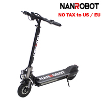 NANROBOT X4 8 Simple Folding 350W 36v10.4A 20Mph 25 Miles 2 Wheel kick e Adult Electric Scooter