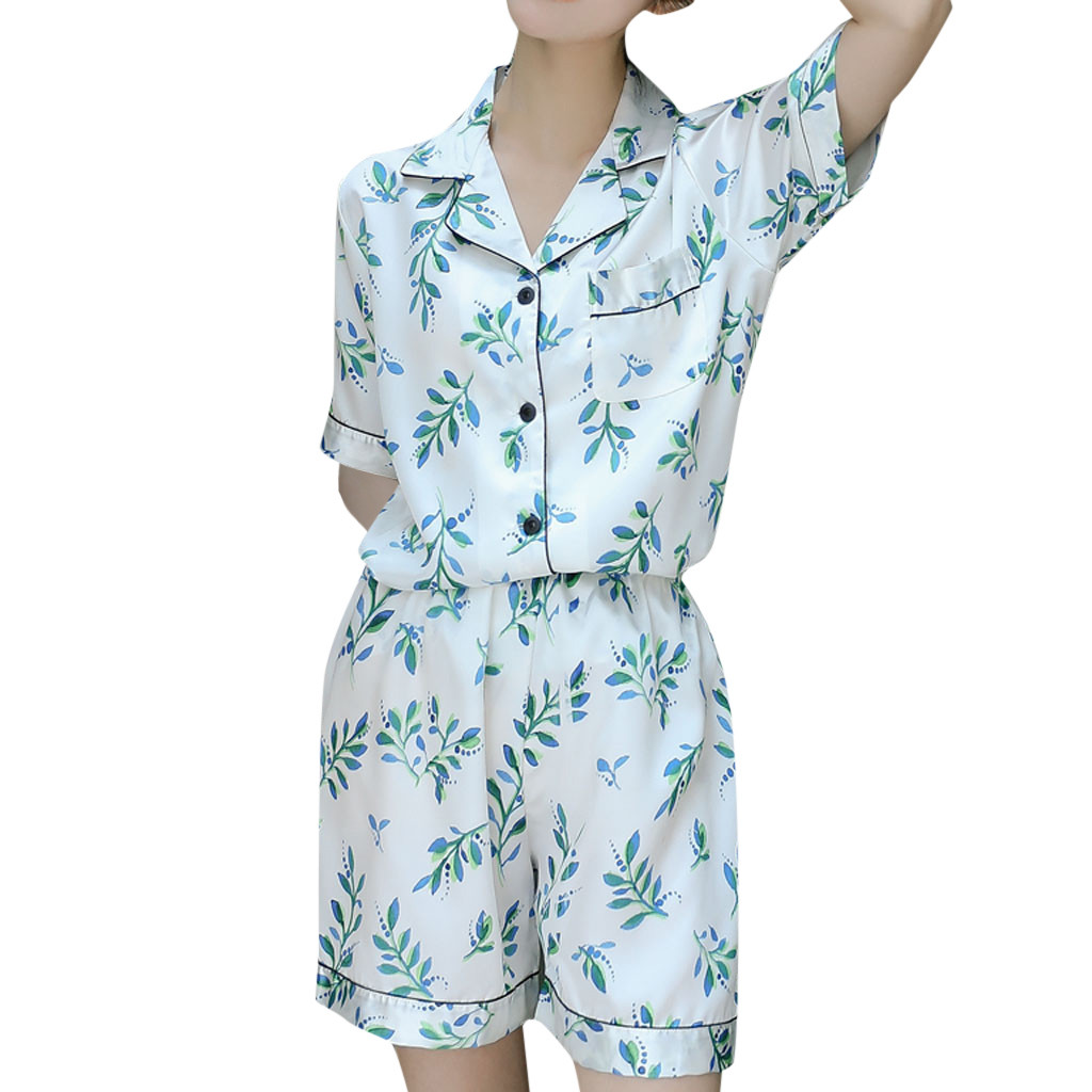 Women Pajama Sets Womens Two Piece Set Sleep Lounge New Cotton Sexy Spring Autumn Pajama Nightwear Flower Plus Size Tracksuit 52
