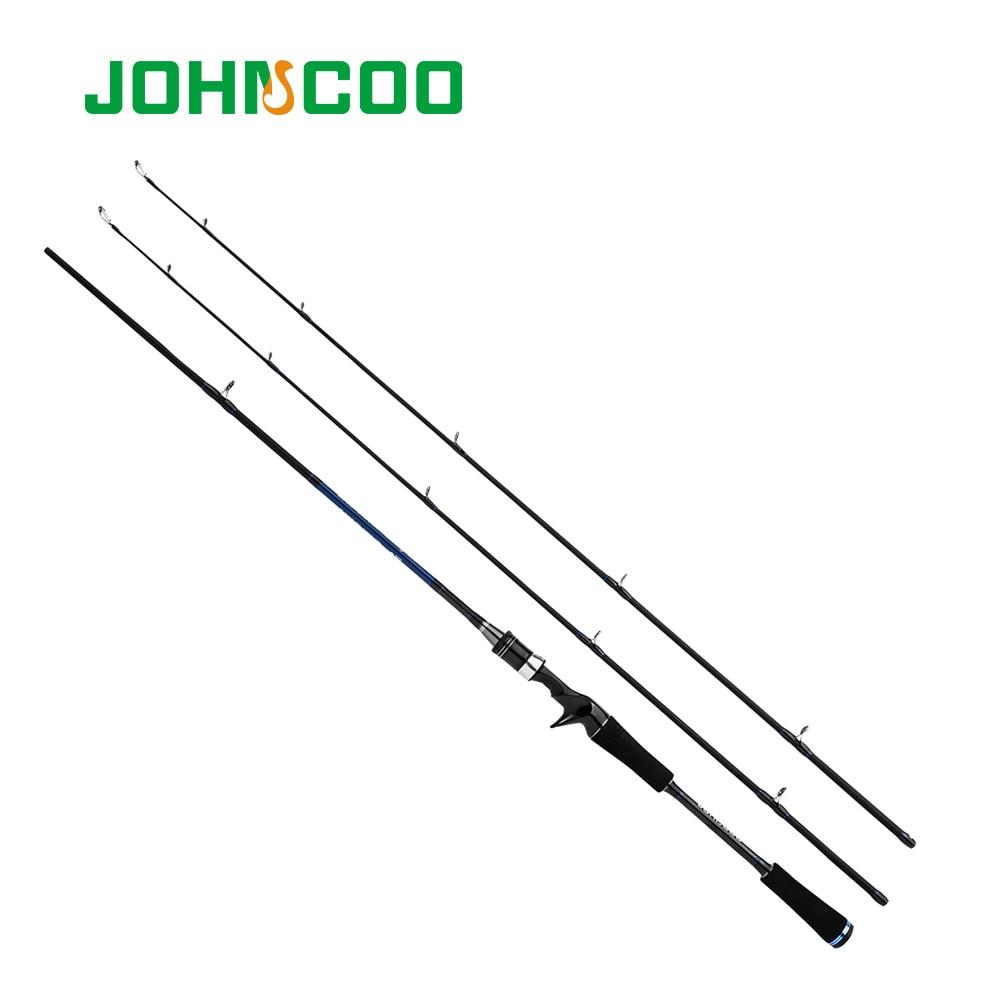 JOHNCOO 1,8 m/2,1 m Neue Carbon Fiber Rod Schnelle Action M MH Power Casting Angelrute Reise Stange 2 abschnitte Locken Angelrute