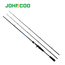 JOHNCOO 1.8m/2.1m New Carbon Fiber Rod Fast Action M MH Power Casting Fishing Rod Travel Rod 2 Sections Lure Fishing Rod yuanwei 1 8m 2 1m spinning rod fast action m ml mh power casting rod carbon fiber fishing rod lure rod high quality b188