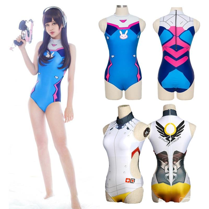 Va Swimwear Cosplay Costume DVA Swimming Suit Overwatch Swimsuit OW Game D