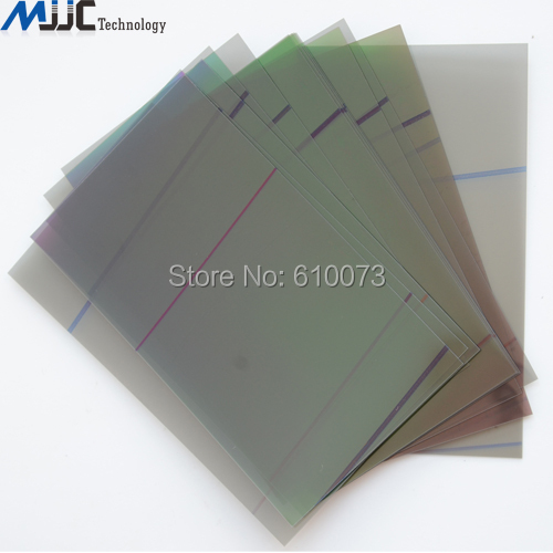 imágenes para Original LCD Polarizador Película de La Luz Polarizada Polarización Polarizador Película para Apple iPhone 5 5G 5C 5S Película 20 Unids/lote