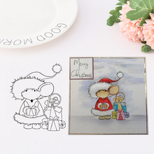 RONDEY Merry Christmas / Mouse Planet Clear Stamps