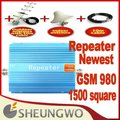 Direct Marketing  repeater 1500square meter work,GSM 980 repeater,900Mhz GSM signal booster amplifier +cable+Antenna