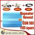 Marketing directo repetidor de 1500 metros cuadrados de trabajo, GSM 980 repetidor, repetidor 900 Mhz GSM amplificador de señal del amplificador + cable + antena