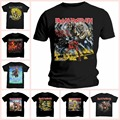 IRON MAIDEN Number Of The Beast T-shirt Mens 100% Cotton Short Sleeve Tees Shirt Adults Tshirt Euro Size S M L XL XXL XXXL Eddie