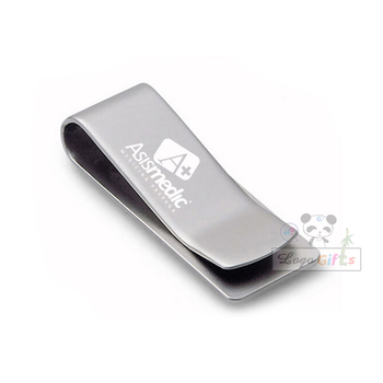 New arrival stainless steel clip with your logo customized laser printing quality personalized with your logo and text