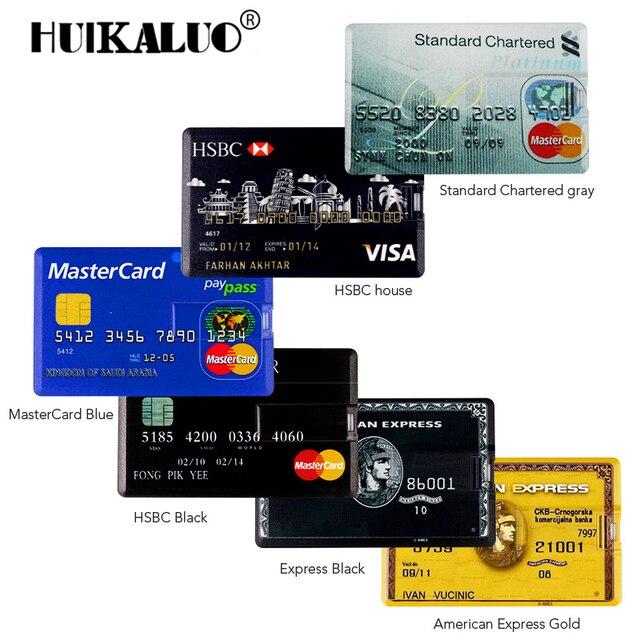 Bank Card Usb Memory Stick Hsbc Mastercard Credit Cards Usb Flash Drive Gb Pendrive Gb Gb