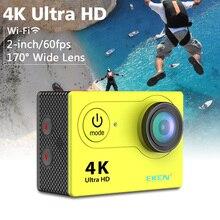 Original Eken cámara de Acción Ultra HD 4 K H9 WiFi 1080 P/60fps 2.0 LCD 170 lente de la Cámara De Vídeo ir cámara impermeable original pro sj 4000