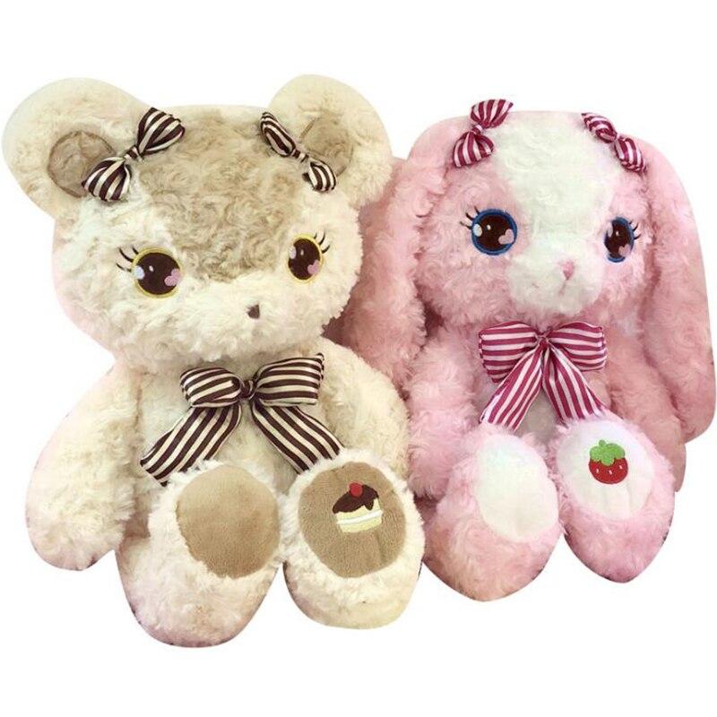 70 cm fraise lapin poupée gâteau ours en peluche jouet lapin ours en peluche velours câlin lapin oreiller cadeau saint valentin Brinquedos peluche
