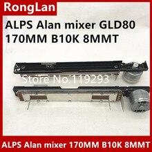 [BELLA]The new Japanese ALPS Alan mixer GLD80 170MM with B10K 4 foot motor fader potentiometer 8MMT--5PCS/LOT mixer fader double potentiometer a10k handle 8t sc 100g