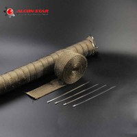5m 10m 15mm Titanium Gold Color Motorcycle Motocross Exhaust Pipe Header Heat Wrap Resistant Downpipe 4
