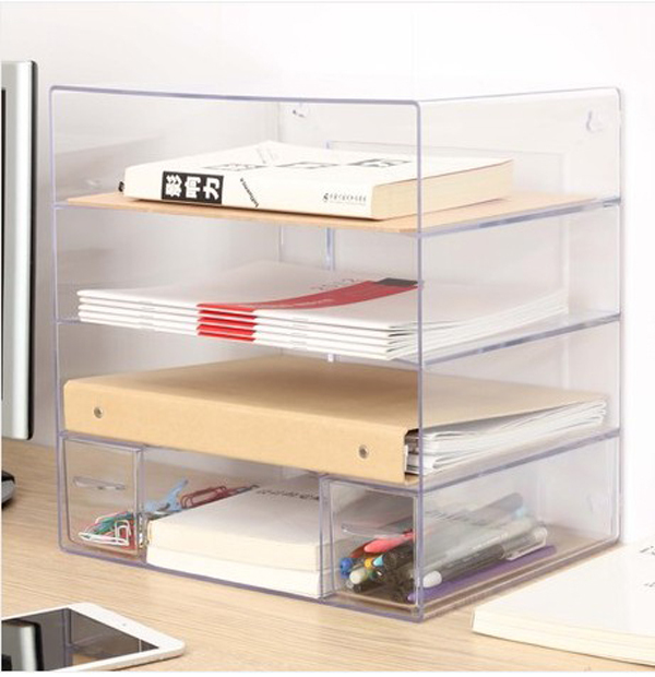 Transparent Combination Of Multi  Document Holder Office Desktop Data  A4  Paper File Cabinet Shelf