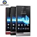 "Abierto original sony xperia p lt22i teléfono móvil dual-core 4.0 ""16 gb rom 3g wifi gps 8mp lt22 celular teléfono"