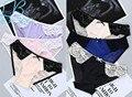 Sexy de encaje en la cintura lumbar de seda yardas grandes bajo-cintura de algodón completa transparente puestos tela triangular ropa interior tentación