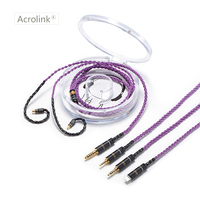 Acrolink 2.5/3.5/4.4mm/i phone Silver Plated Earphone Upgrade Wire Earphone Cable LS50 LS70 LS200 LS300 E40 E50 A2DC Cable
