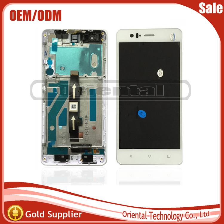 ФОТО Full New White Color For BQ Aquaris M5 LCD Display With Touch Screen Digitzer Assembly 5k1243FPC With frame Free Shipping