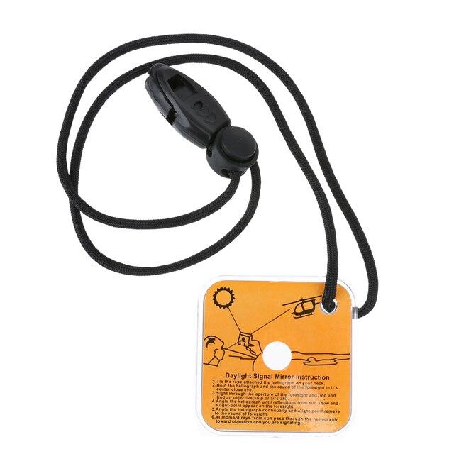 Outdoor Survival Tool Spiegel Emergency Kit Reflecterende Survival Signaal Spiegel met Fluitje Camping Apparatuur voor Lange Afstand