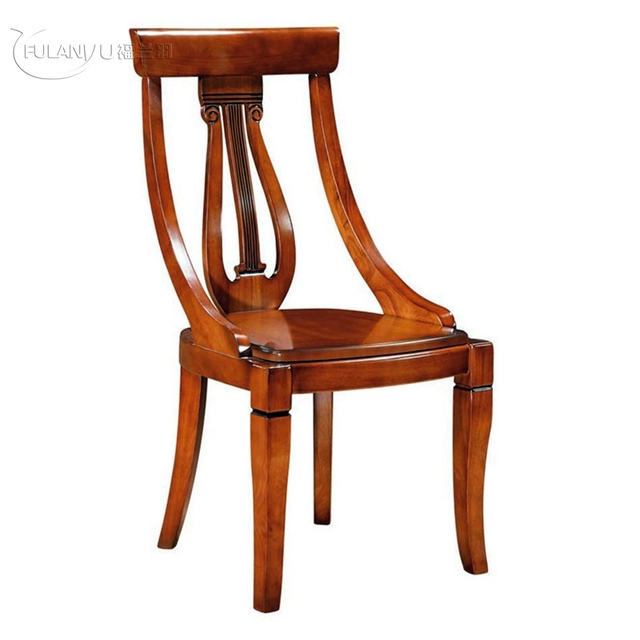 Family Dining Chair Hotel Wood European Style Wooden Chairs