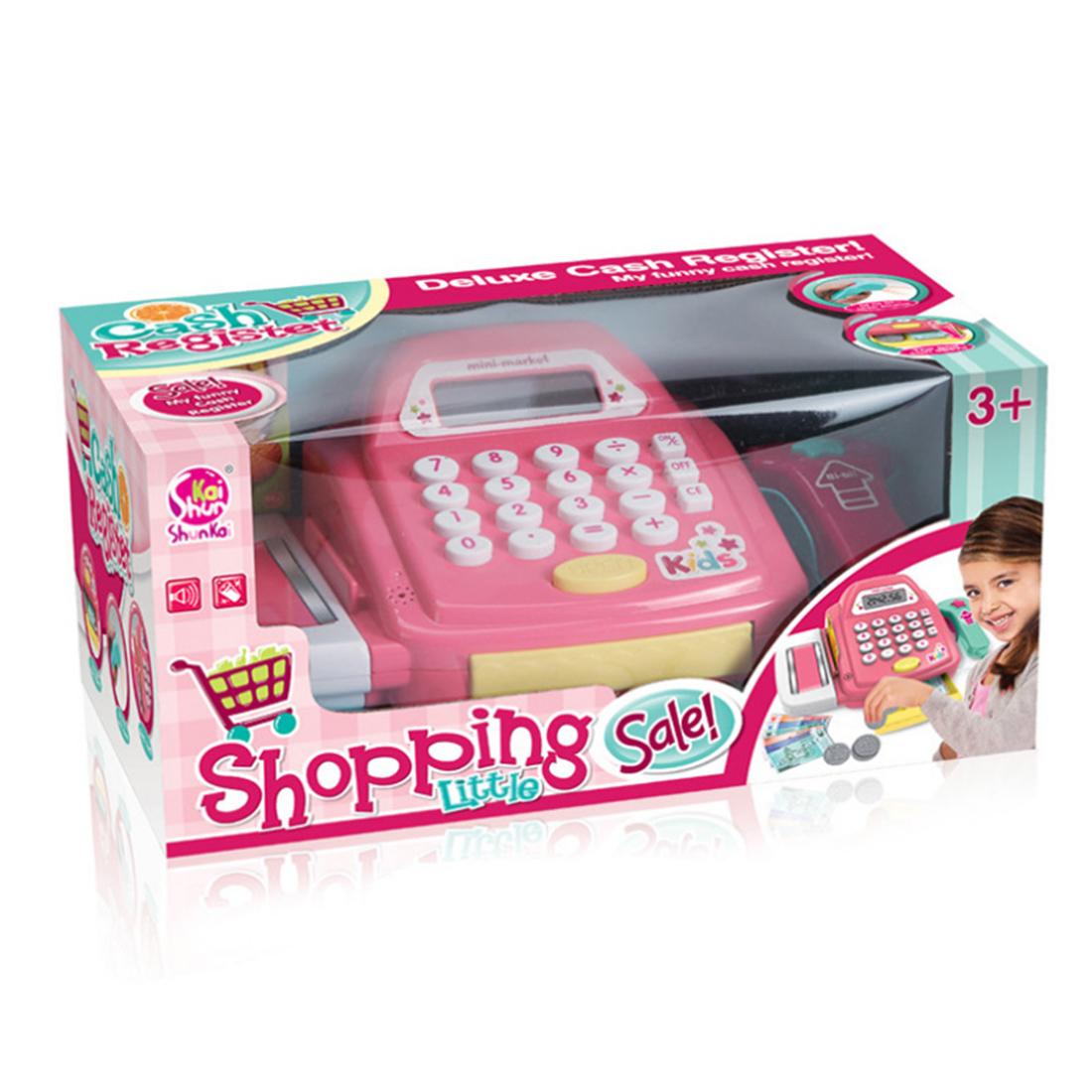 Kids Supermarket Cash Register Electronic Toys with Foods Money Children Learning Education Pretend Play Set Best Christmas Gift Islamabad