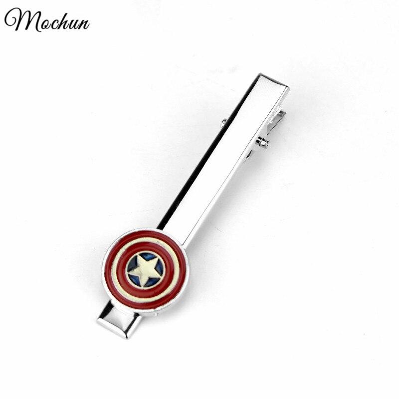 MQCHUN Movie Star Wars Star Trek Deadpool Avengers Batman Superman Spiderman Iron MAN The Flash Tie Clips For Men Wedding Gift