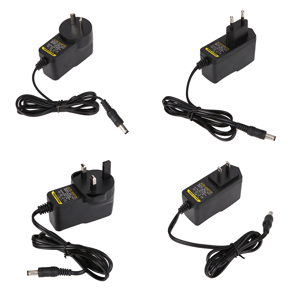 AC to DC 5V 2A Power Supply <font><b>Adapter</b></font> 5.5mm*2.1mm/2.5mm Wall Plug Charger Cable Adaptor Switching Converter with <font><b>AU</b></font>/<font><b>EU</b></font>/UK/US Plug image