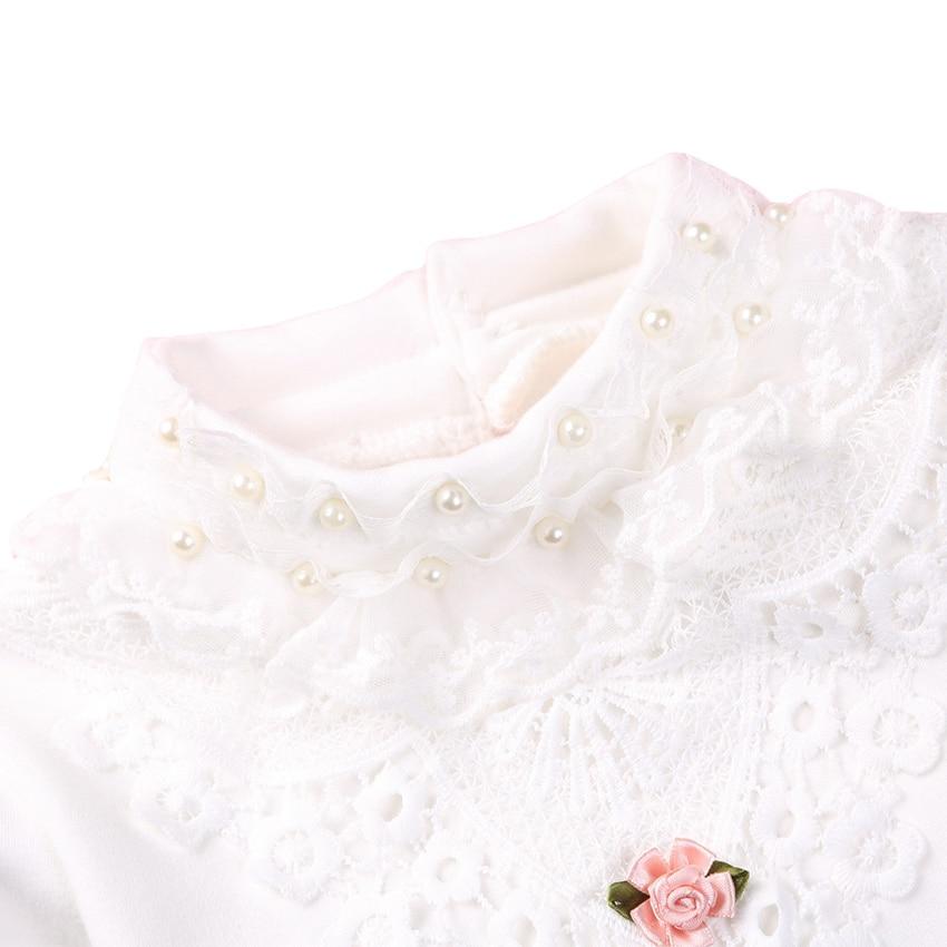 LCJMMO Μόδα Άνοιξη Lace Κορίτσια Μπλούζα - Παιδικά ενδύματα - Φωτογραφία 3
