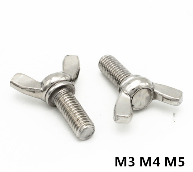 M3/M4/M5 DIN316 Butterfly Bolt Wing Bolt Set Wing Nuts Claw Screw Thumbscrew Stainless Steel