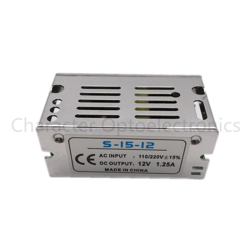5pcs Mini Size LED Switching Power Supply 12V 1.25A 15W Lighting Transformer Power Adapter AC100V 110V 220V to DC12V Led Driver