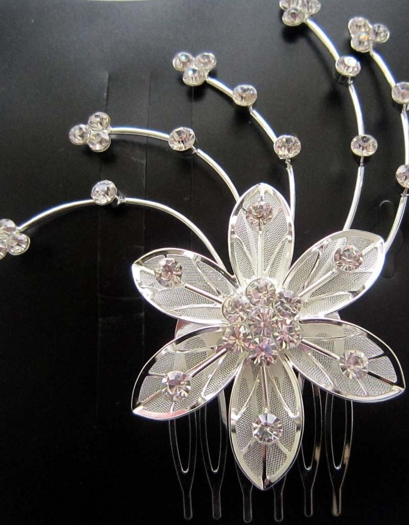 Free Shipping Wedding Jewelry Crystal Bridal Flower Hair