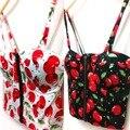 Новое Лето Женщины Девушки Сладкий Цветочный Бюстье Мягкий Молния Растениеводство Топы Sexy Блузки A1