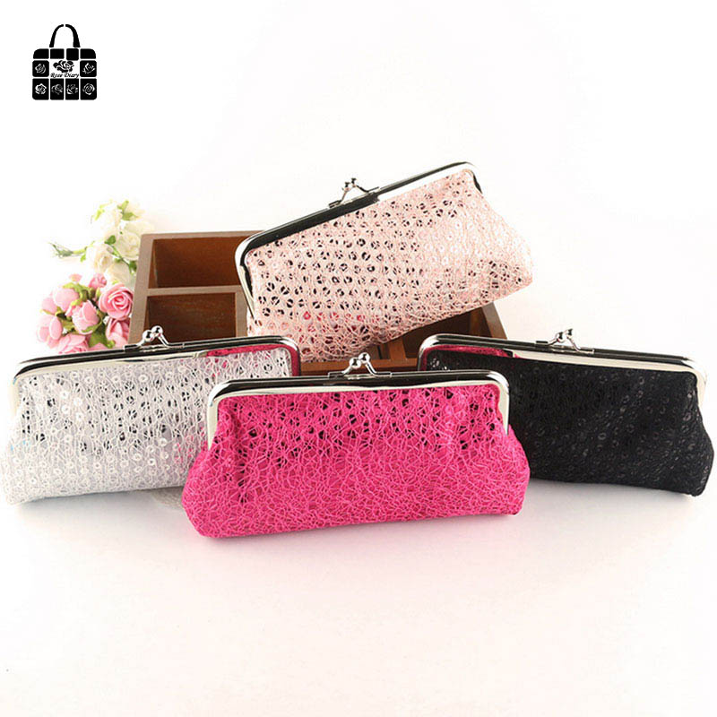 RoseDiary Fashion 6 inch sequins hasp zero wallet lady girls Coin Purse Wallet Bag Coin Pouch Children Purse Holder Women Wallet