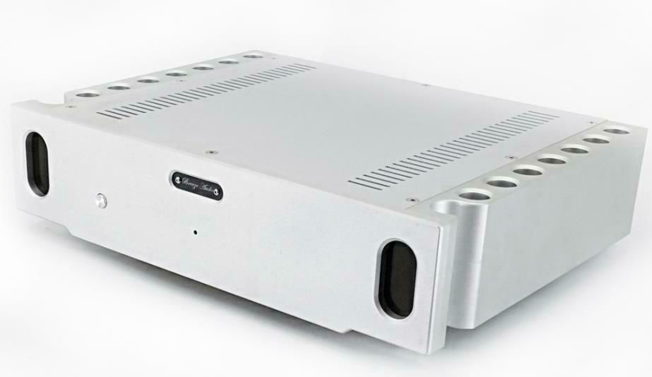 BZ3608S Full aluminum power amplifier chassis silver sand blasting amplifier case box