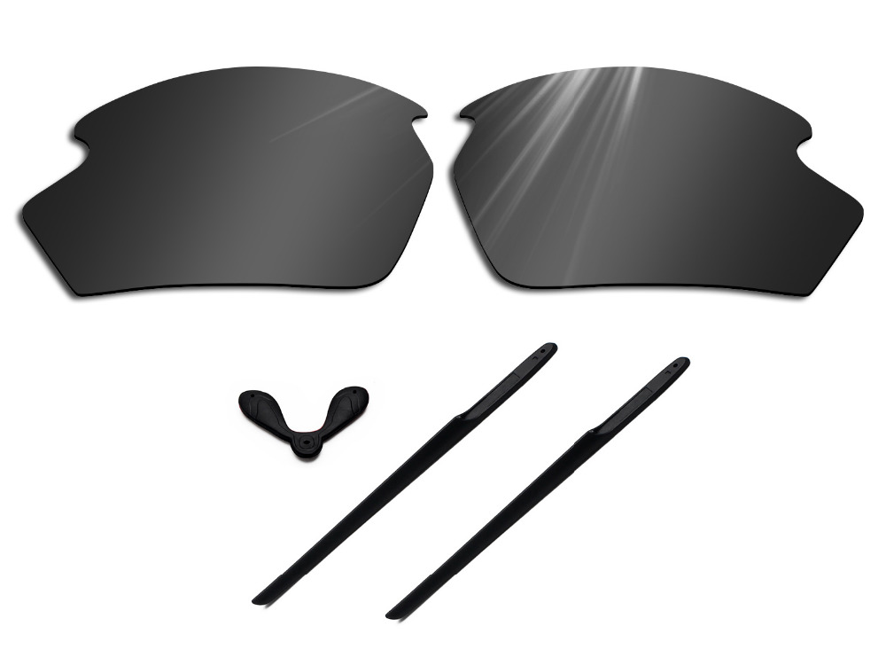 Glintbay Polarized Lenses Replacement and Rubber Nosepads and Earsocks for Rudy Project Rydon Sunglasses-Multiple Colors