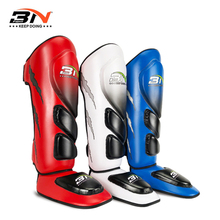 BN Thicker Boxing Shin Guards KickBoxing EVA Full Protection Muay Thai Sanda Kick Leg Warmers Shin Pads Taekwondo Ankle Guard