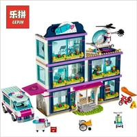 Lepin 01039 Friends Girl Series 932pcs Building Blocks Heart Lake Hospital Bricks Toys Kids Girl Gifts