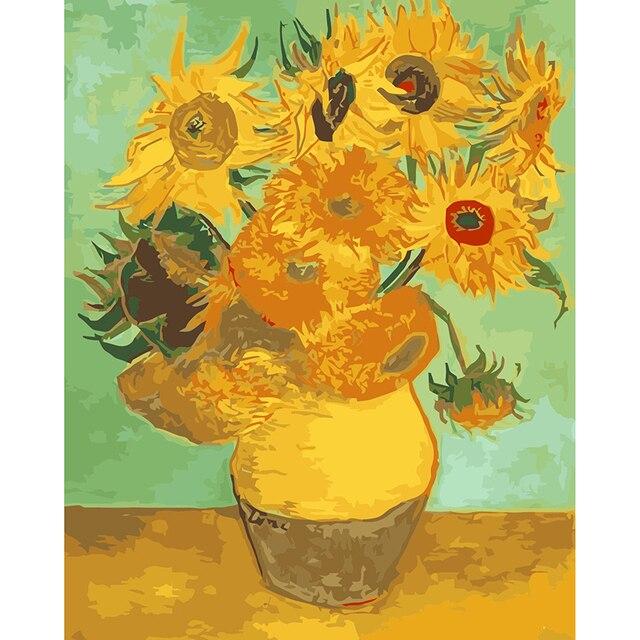 Disegno Da Colorare Di Girasoli Di Vincent Van Gogh Categorie
