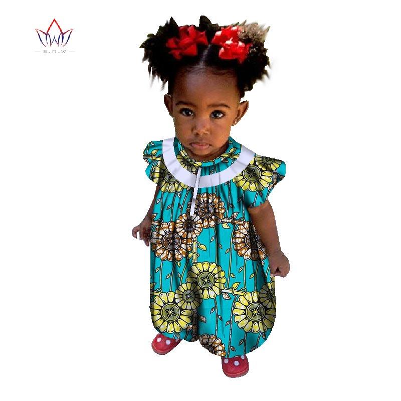 GemäßIgt 2017 Afrikanische-kleidung-für-kinder Dashiki Traditionellen Baumwolle Passende Afrika Print T Kinder Sommer Regelmäßige Tuch Brw Wyt29
