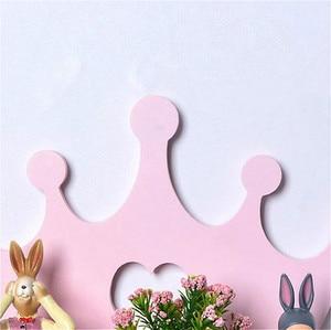 Image 4 - 하트 핑크 크라운 스타일 나무 배치 프레임 홀더 욕실 스토리지 선반 벽 마운트 유형 랙 침실 물건 단일 레이어