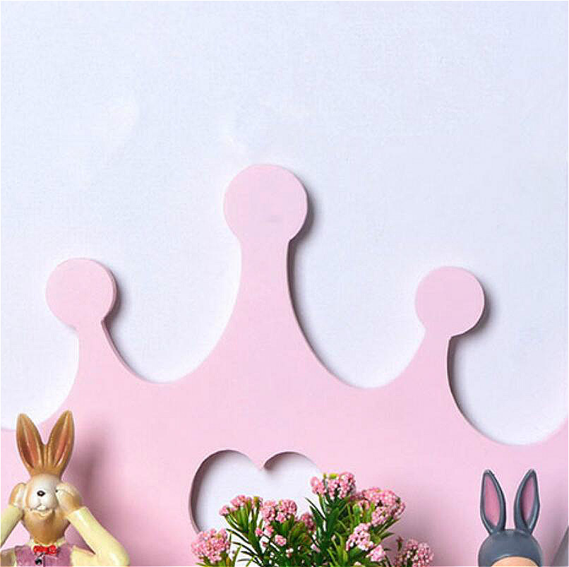 Image 4 - Heart Pink Crown Style Wooden Placement Frame Holder Bathroom Storage Shelf  Wall Mounted Type Rack Bedroom Stuff  Single Layer-in Storage Shelves & Racks from Home & Garden